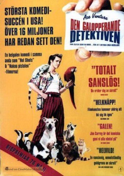 Ace Ventura: Pet Detective - Swedish Movie Poster