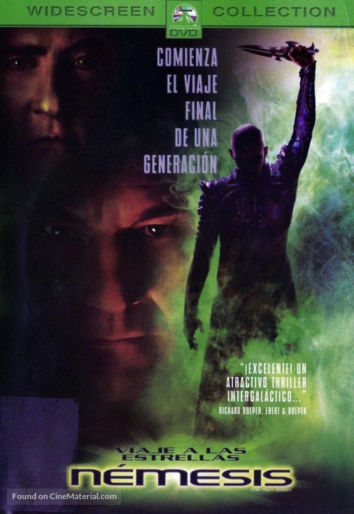 Star Trek: Nemesis - Mexican DVD cover