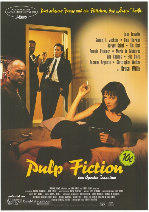 Image result for Pulp Fiction (1994)    poster