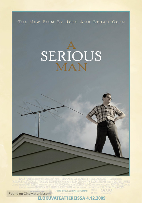 A Serious Man - Finnish Movie Poster