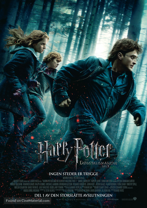 Harry Potter and the Deathly Hallows: Part I - Norwegian Movie Poster