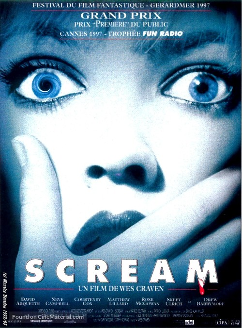 Scream - French Movie Poster