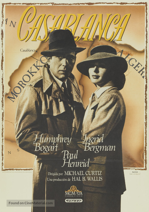 Casablanca - Spanish DVD movie cover