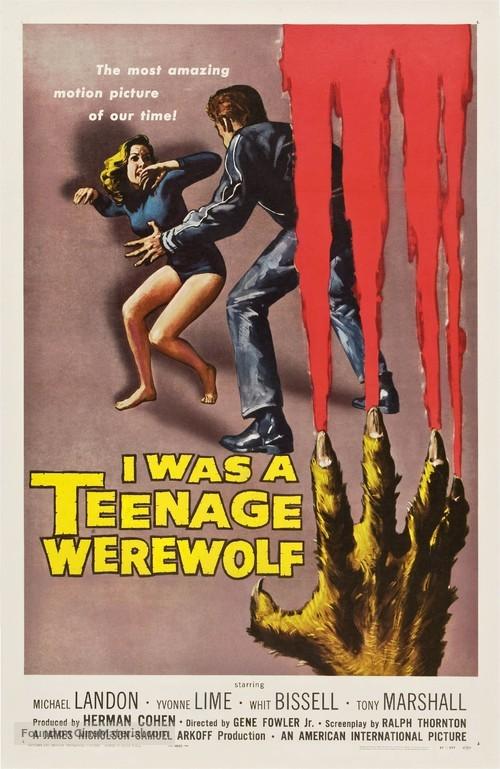 I Was a Teenage Werewolf - Movie Poster