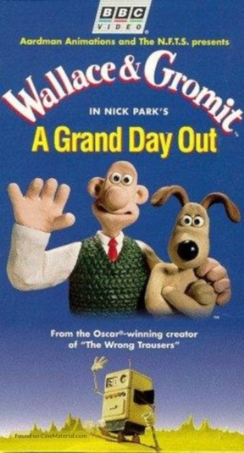 A Grand Day Out with Wallace and Gromit - VHS movie cover