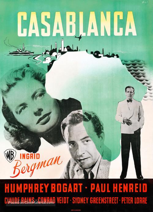 Casablanca - Danish Movie Poster