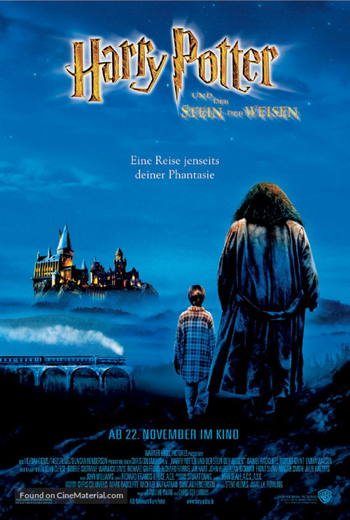 Harry Potter and the Sorcerer's Stone - German Movie Poster