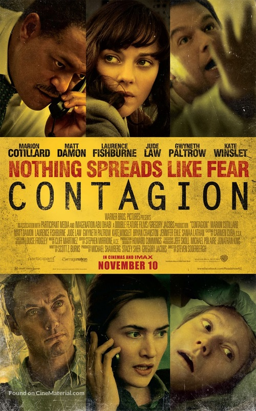 Contagion - New Zealand Movie Poster