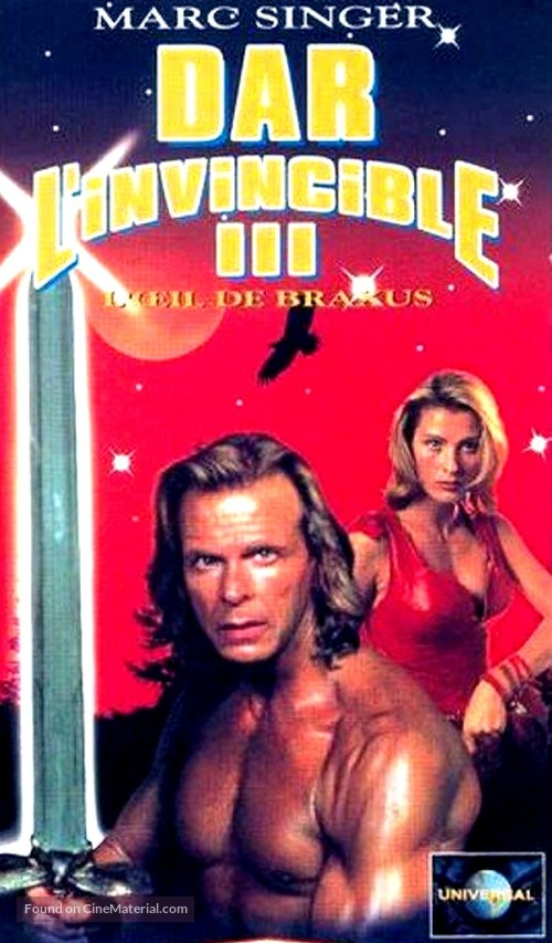 Beastmaster: The Eye of Braxus - French VHS cover
