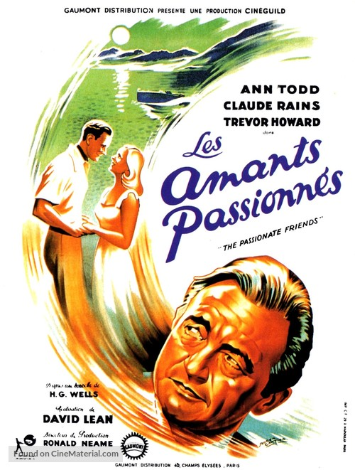 The Passionate Friends - French Movie Poster
