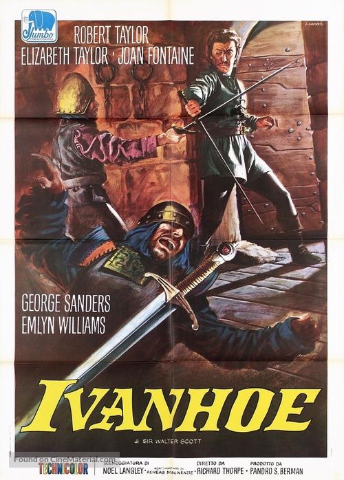 Ivanhoe - Italian Movie Poster
