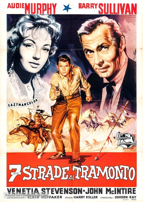 Seven Ways from Sundown - Italian Movie Poster