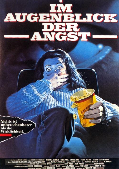 Angustia - German Movie Poster