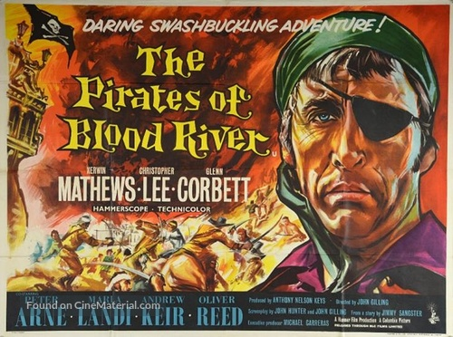 Pirates of Blood River - British Movie Poster