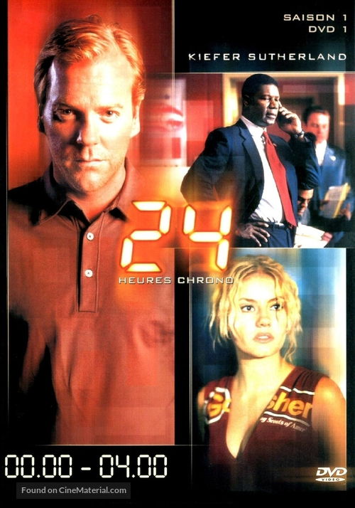 """""""24"""" - French DVD movie cover"""