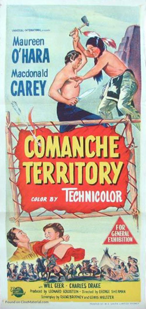 Comanche Territory - Australian Movie Poster