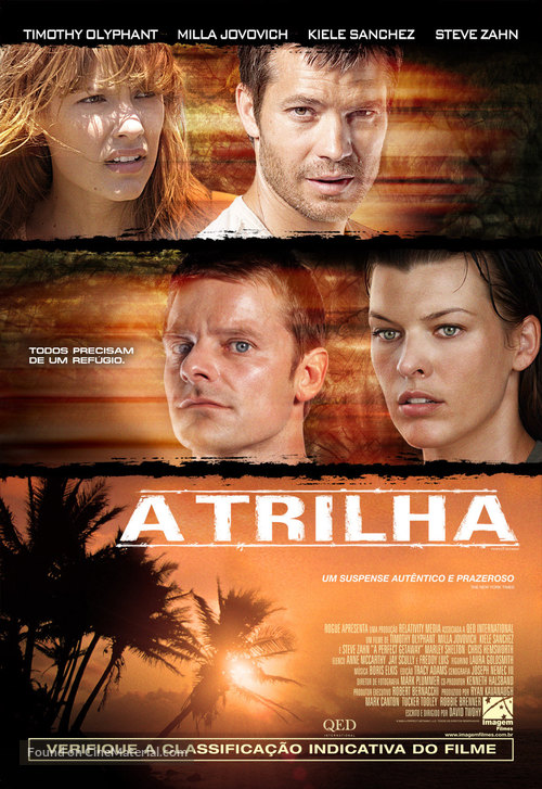 A Perfect Getaway - Brazilian Movie Poster