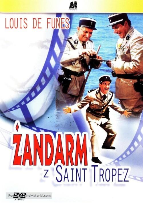 Le Gendarme De St Tropez 1964 Polish Dvd Movie Cover