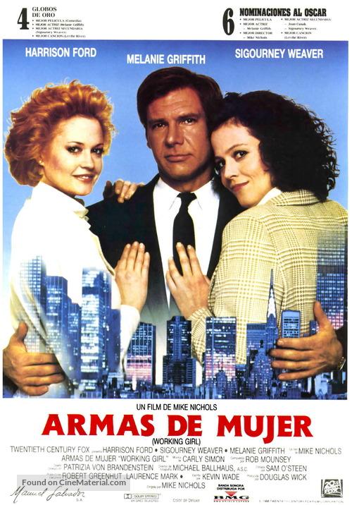 Working Girl - Spanish Movie Poster