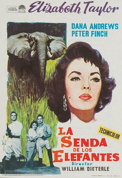 Elephant Walk - Spanish Movie Poster