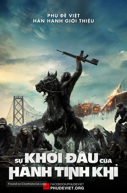 Dawn of the Planet of the Apes - Vietnamese Movie Poster