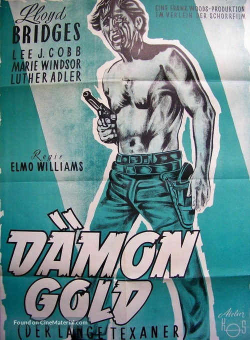 The Tall Texan - German Movie Poster