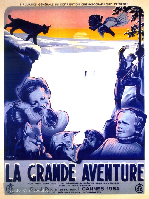 Stora äventyret, Det - French Movie Poster