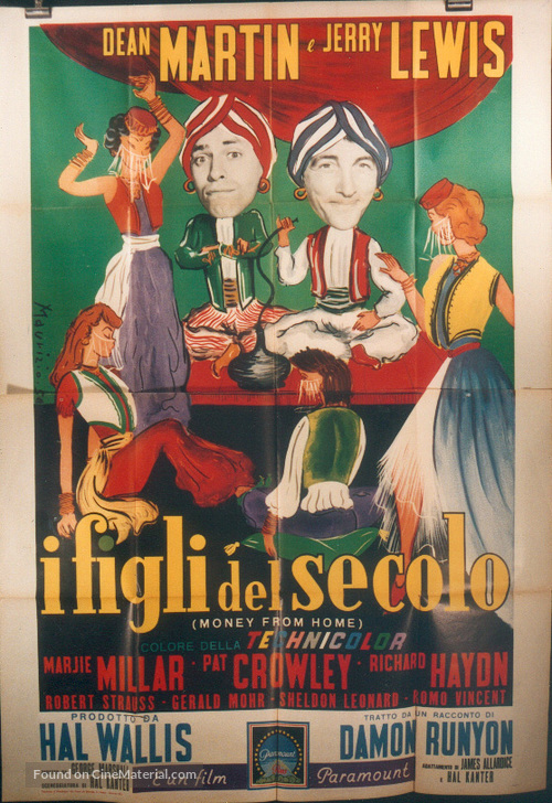 Money from Home - Italian Movie Poster