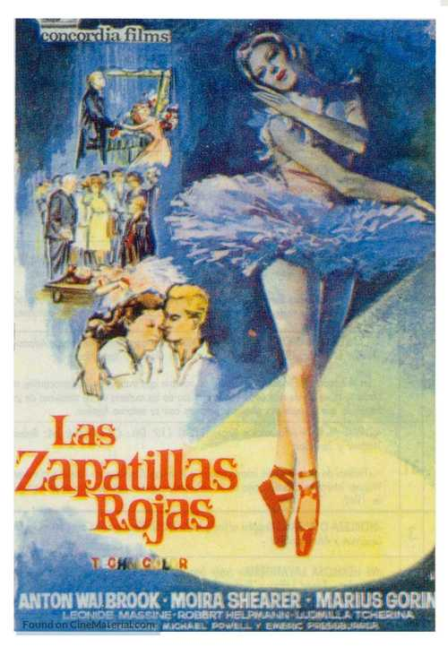 The Red Shoes - Spanish Movie Poster