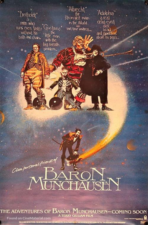 The Adventures of Baron Munchausen (1988) movie poster