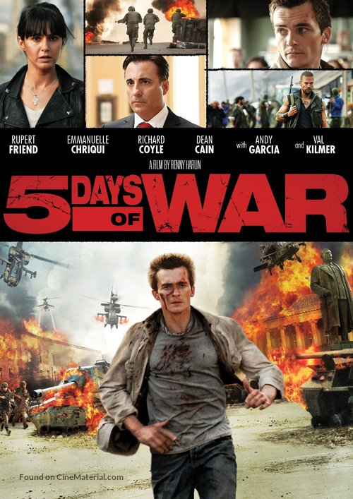 5 Days of War - DVD movie cover