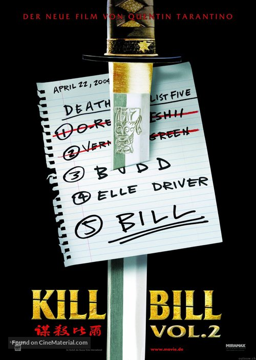 Kill Bill: Vol. 2 - German Movie Poster