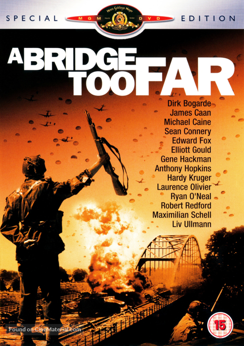 A Bridge Too Far - British DVD cover