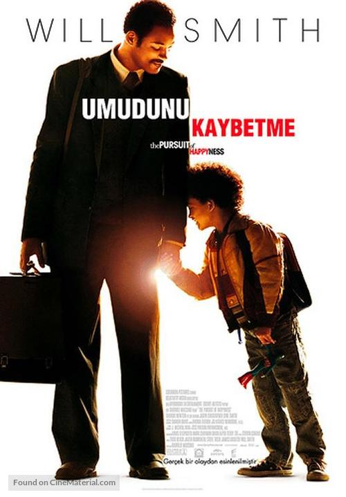 The Pursuit of Happyness - Turkish Movie Poster