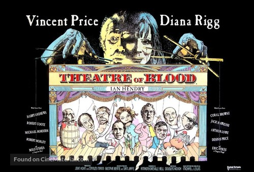 Theater of Blood - British Movie Poster