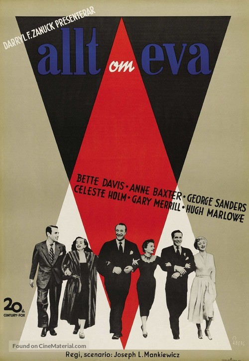 All About Eve - Swedish Movie Poster