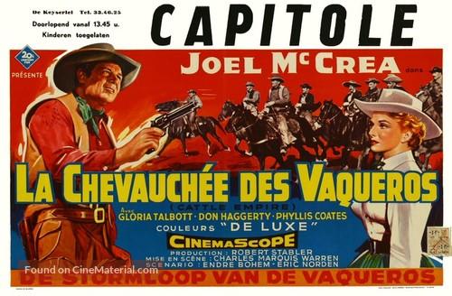 Cattle Empire - Belgian Movie Poster