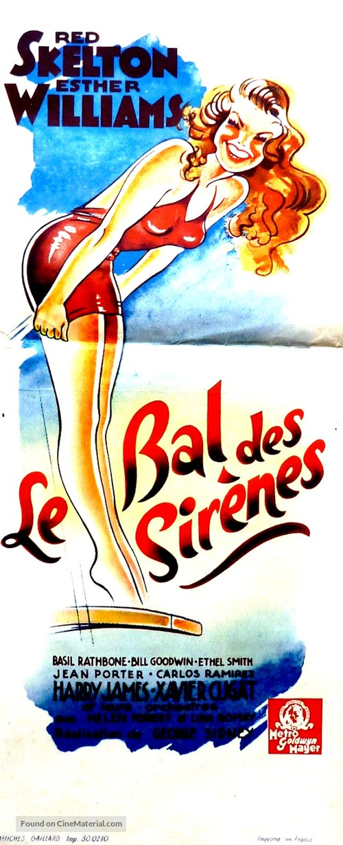 Bathing Beauty - French Movie Poster