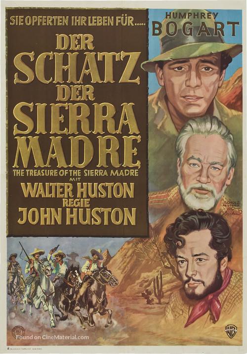 The Treasure of the Sierra Madre - German Movie Poster