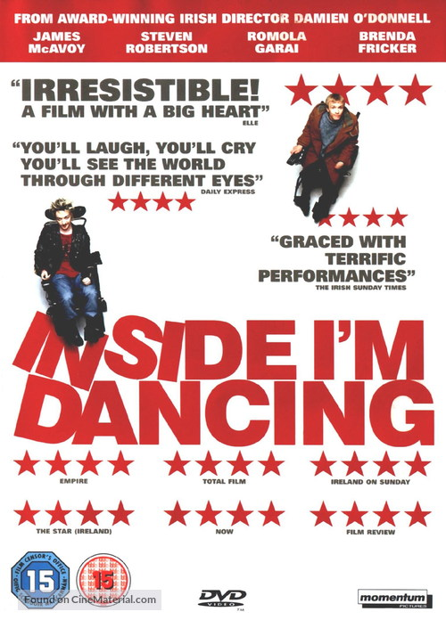 Inside I'm Dancing - British DVD movie cover