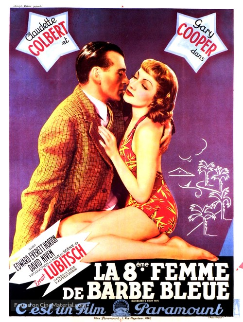 Bluebeard's Eighth Wife - French Movie Poster