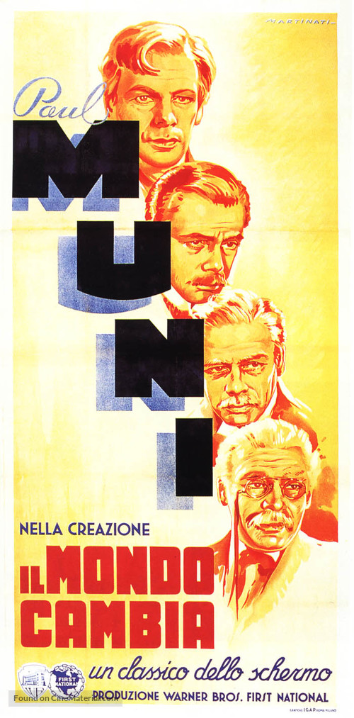 The World Changes - Italian Movie Poster