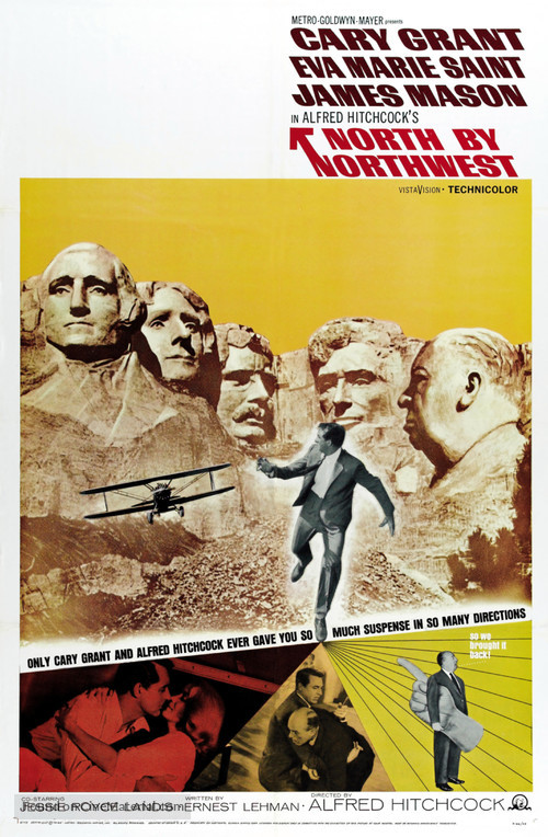 North by Northwest - Re-release movie poster