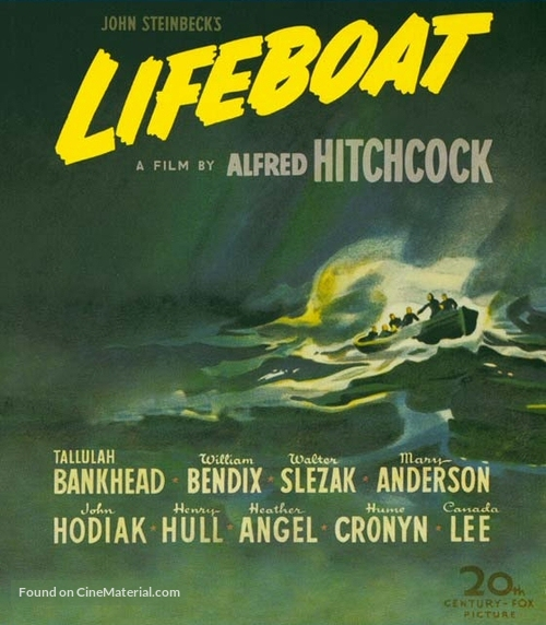 Lifeboat - Blu-Ray movie cover