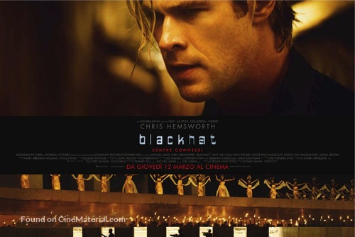 Blackhat Italian movie poster
