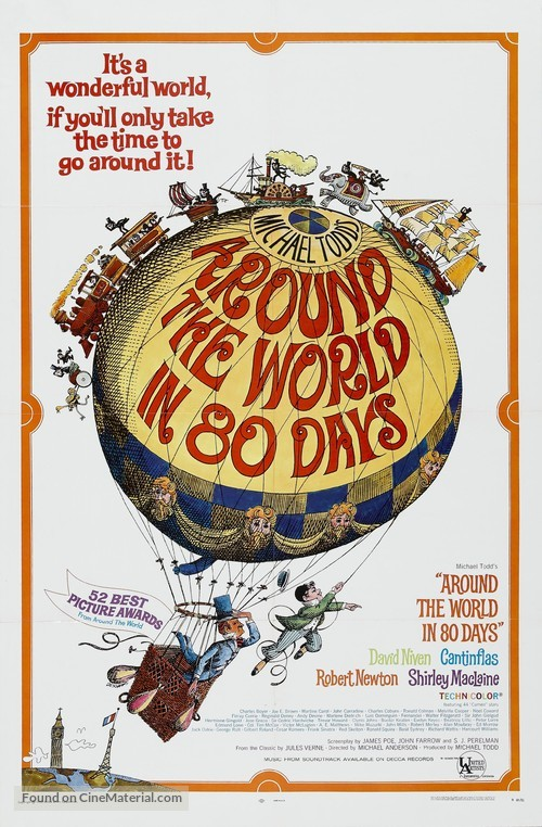 Around the World in Eighty Days - Movie Poster