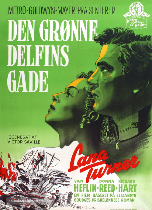 Green Dolphin Street - Danish Movie Poster