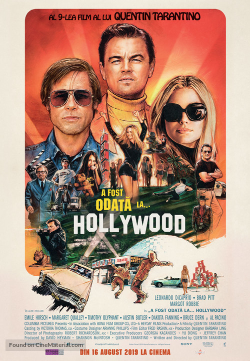 Once Upon a Time in Hollywood - Romanian Movie Poster
