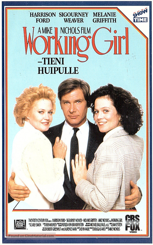 Working Girl Finnish Vhs Cover
