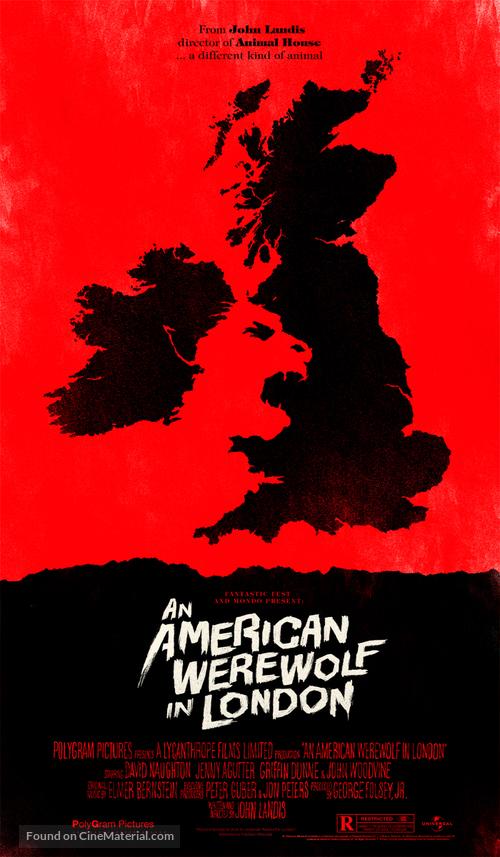 An American Werewolf in London - Homage movie poster